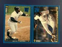 1995 Upper Deck #220 #222 TRAVIS FRYMAN & CECIL FIELDER Lot 2 Detroit Tigers