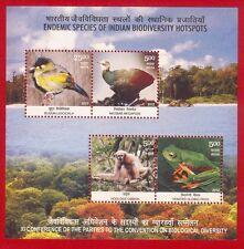 [105] Miniature Sheet Endemic Species Biodiversity Animal Wildlife 2012 MNH