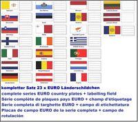 100 LOOK 330444 Set 23 Länderschildchen EURO Flaggen Für 338425 Münzhüllen NUMOH