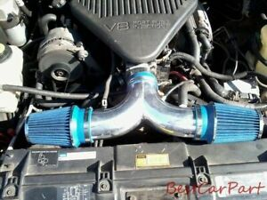 BCP BLUE 94-96 Impala Roadmaster Fleetwood 4.3L 5.7L Dual Twins Air Intake