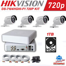 Hikvision KIT  HD 720p security camera kit, DVR, 4 cameras, power supply 1TB HDD