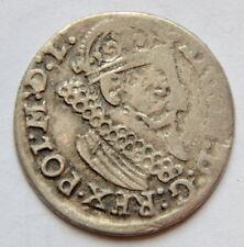 3 Grosze 1624, 3 Groschen , Poland Trojak, king Sigismund III, Silver coin