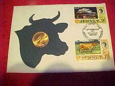 1971 #214 99 COMPANY JERSEY 1 NEW PENCE FIRST DAY FIRST ISSUE BRONZE