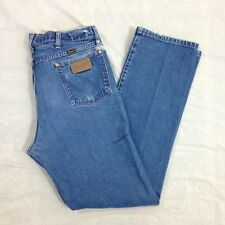 7587e982 Vtg USA Wrangler Straight Leg Cowboy Cut Rodeo Jeans - 34x33 (measured)