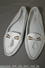 SALAMANDER adorables ballerines en cuir blanc pointure 39  TOUTES NEUVES  v 125€