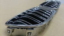 BMW F10,F11,F18 5-Series Front Kidney Grille Chrome-Black M5-Look