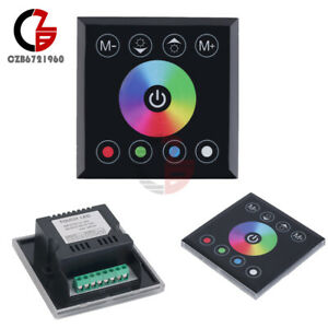 DC12/24V RGB/RGBW Touch Panel Dimmer Switch Controller For Led Strip Light