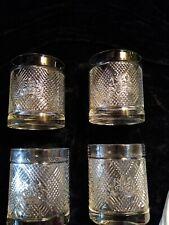 4 Ralph Lauren Old Fashioned Rock Glasses Argyle