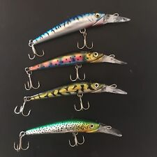 4 Brand New 19 Cm Game Fishing, barra Lures, VMC HOOKS