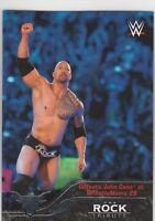 2016 Topps Heritage WWE The Rock Tribute Card #30 Defeats John Cena