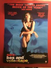 Sex, Lies and Videotape original 1980's Video movie poster