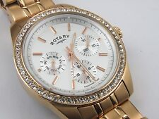 Rotary LB00160/02 Ladies Rose Gold Dial Analogue Watch - 50m