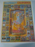 White Mountain Puzzles Great Brewers of California Beer 1000 Piece Jigsaw VTG