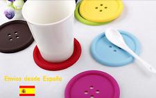 5 X Salvamanteles silicona forma botón color morado