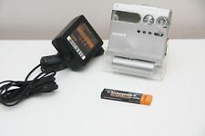 SONY Minidisc Walkman MZ-N910 MD Player Recorder MDLP Charging Stand Battery