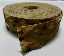 "1 YARD-MILITARY GRADE SEW-ON 4"" MULTICAM HOOK AND LOOP - LOOP SIDE - U.S. SELLER"