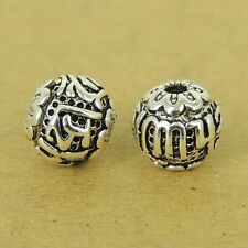 2 PCS 925 Sterling Silver OM Beads Vintage Buddhism Jewelry Making WSP512X2