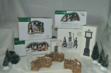 Dept 56 dickens accessories lot - village sign- English post box - more