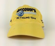 Discovery Channel AMD Pro Cycling Team 7x Champion Yellow Baseball Cap Hat Adj