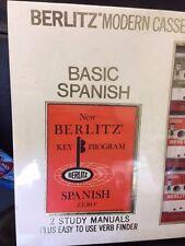 SEALED  BERLITZ Modern Cassette Course BASIC SPANISH -- BRAND NEW IN BOX!!