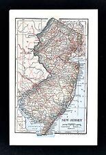 1903 Dodd Mead Map - New Jersey Trenton Princeton Atlantic City Newark New York