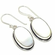 "Mother Of Pearl Gemstone Handmade Ethnic Fashion Jewelry Earring 1.7"" SE7206"