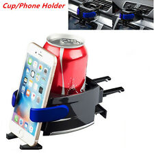 2in1 Car Air Vent Cup Bottle Holder Adjustable Drink Stand with Cell phone Mount