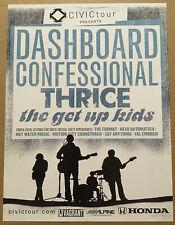 DASHBOARD CONFESSIONAL & THRICE Rare 2004 TOUR PROMO POSTER 4 Mark CD 18x24