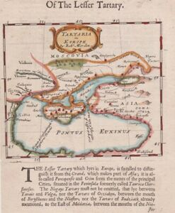1688 Early Edition Morden Map of Black Sea, Ukraine