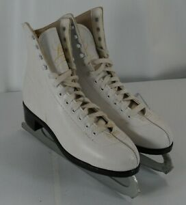Womens Lange Aries Ice Figure Skates White Size 6 Made in Canada