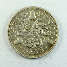 1933 George VI Silver Threepence 3d; Old album collection!