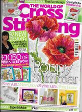World of Cross Stitching Issue 165 Joan Elliott Teddies Teatime Poppy Sunflowers