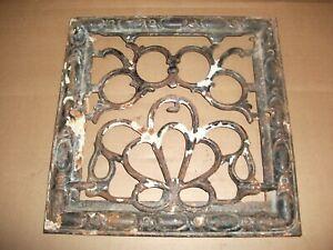 Symonds Vintage Antique Cast Iron Metal Wall Grate Victorian Pat 1900