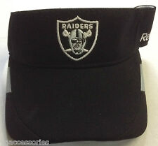 NFL Oakland Raiders Reebok Adjustable Back Sun Visor Hat Cap NEW!!
