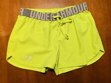 Under Armour Womens HeatGear Loose Shorts Lime Size Extra Small XS