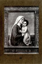 Prof. Friedrich Georg Papperitz Madonna mit dem Kind Histor. Kunstdruck v.1917