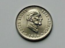 South Africa 1976 10 CENTS Coin AU++ Lustre with State President & Aloe Plant