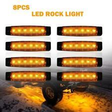 8X Amber Rock Light For Jeep Off-road ATV Under Body Fog Lights Surface Mount