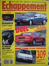 ECHAPPEMENT 1990 HONDA CRX VTEC + NSX / TOYOTA MR / TVR S3C / PEUGEOT 309 GR.A