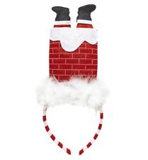Cerchietto natalizio diadema babbo natale camino