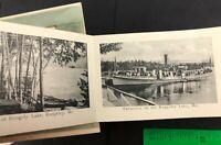 Rangeley Lake Maine Hotel Loon Lake Kennebago ME Foldout Multi-View Postcard