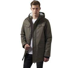 Abrigos y chaquetas de hombre Parka verde 100% algodón