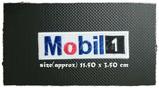 Mobil 1 Oil Patch Sew Iron on Embroidered Gasoline Racing Motor Sport Free Ship