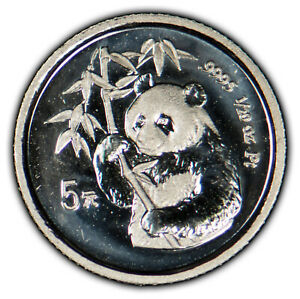 1995 5 Yuan 1/20 oz .9995 Platinum Chinese Panda Proof - Low Mintage - SKU-X1266