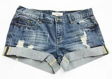 Forever 21 Shorts Distressed Cuffed Denim Blue Jean Daisy Dukes size 28