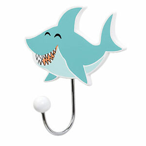 Bloomingville Mini Wandhaken Haifisch Kleiderhaken Hai Kinderzimmer