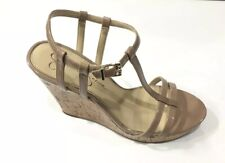 Jessica Simpson New Shoes Size 8 Brown Cork Open Toe  Jardina High Wedge Heels