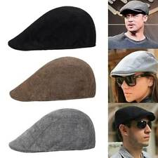 Mens Boys Flat Cap Beret  Hat Country Newsboy Golf Driving Hat Caps