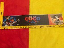 """Disney Pixar Coco Movie theater Mylar 5.25""""x25"""" Large, Rare original, Christmas"""