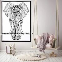 Indian Tapestry Wall Hanging Hippie Elephant Mandala Bedding Beach Throw Poster